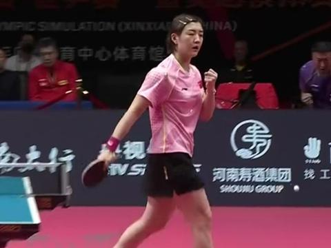国乒新一姐怒吼庆祝,奥运冠军真不远了