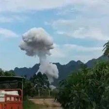 百色那坡镇一房屋发生爆炸事故致1死3伤,现场蘑菇云冲天!