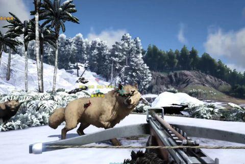 Steam生存游戏排行榜,《方舟生存进化》恐狼成群出征寸草不生