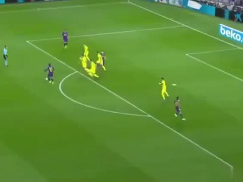 梅西助攻+伤退,格列兹曼世界级头球看懵黄潜众将,巴萨21