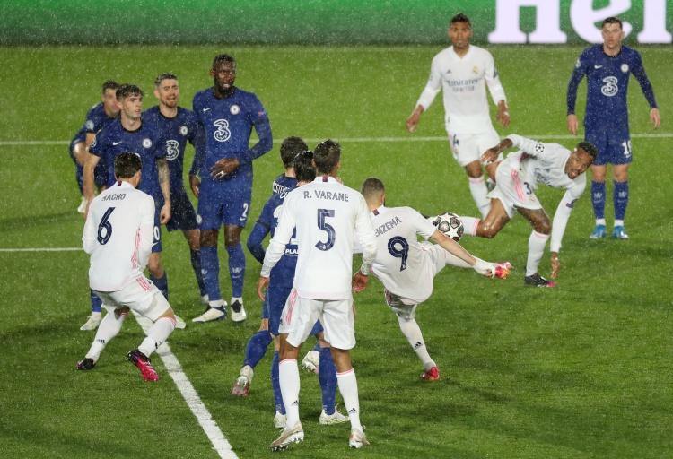 欧冠半决赛最佳进球:本泽马首回合对阵切尔西的凌空斩当选