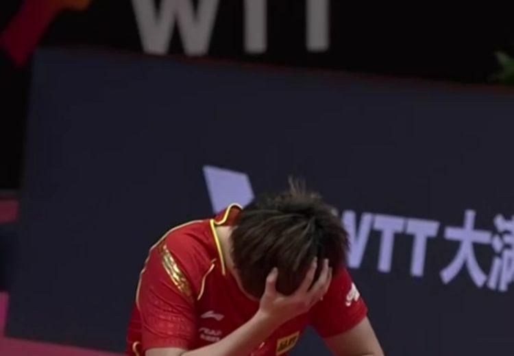 1-3!国乒00后王牌捂脸再败,刘国梁鼓掌笑出声,马龙:我努力了