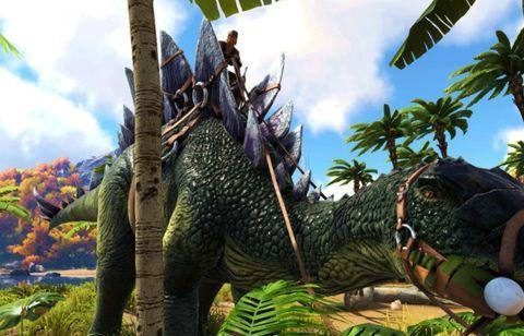 Steam沙盒游戏排行榜,《方舟生存进化》主播热衷浆果采集