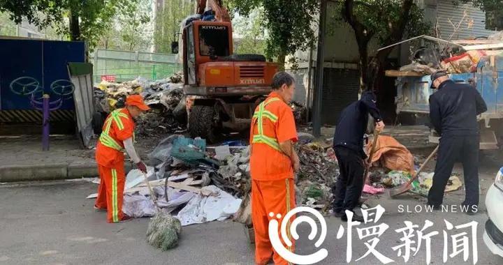 市民:多个地方有卫生死角 街道办:收集信息集中清理
