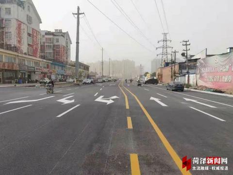 菏泽青年路(黄河路-大学路段)提升改造完成,正式通车