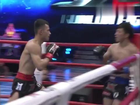 昆仑决:散打猛将想扫踢KO对手,不料被接住腿摔得很惨