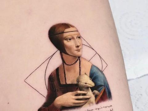 18个名画主题的纹身图案,趣味性和艺术感并存,网友:想纹一打