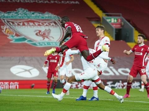 马内蒂亚戈破门,利物浦2-0主场力克南安普顿