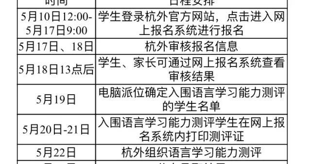 杭州外国语学校发布今年最新的招生政策