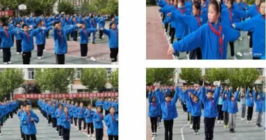 """南洋学校举行""""队列队形、武术操""""比赛"""