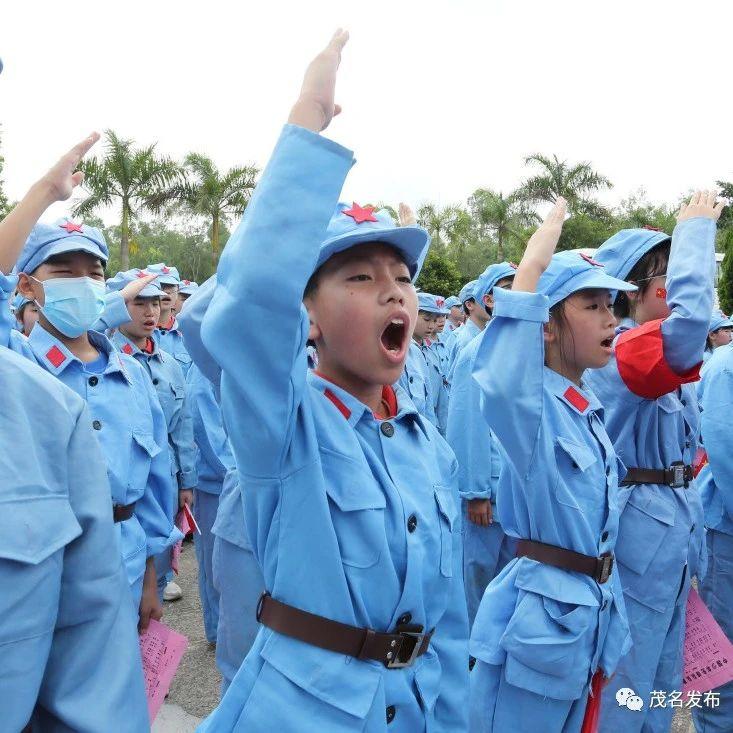 """茂名中小学生""""学党史·传承红色基因""""研学活动:感受家乡红色文化魅力,增强爱国主义情感"""
