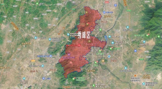 广西面积最小的十个辖区,桂林市占了半壁江山