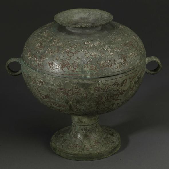 一件还原古代贵族休闲方式的青铜器