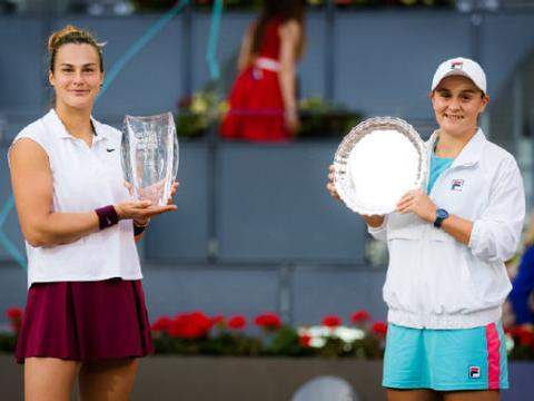 WTA最新排名:巴蒂积分过万创新高,萨巴伦卡首进世界前五!