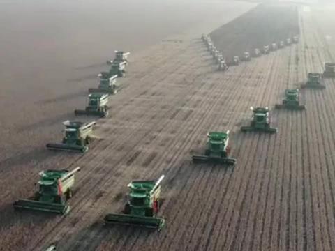 航拍大型农机收割,4330万亩粮食作物,全面拉开秋收大幕!