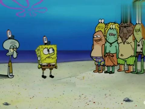 遇上海浪,除蟹老板外海绵宝宝、章鱼哥、派大星都被冲到了荒岛上