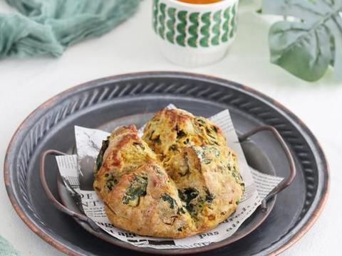 菠菜南瓜芝士丹波面包 | 低脂高纤维