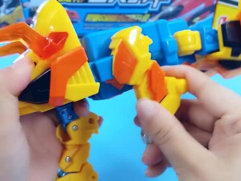 心奇爆龙战车恐龙机甲变形玩具,机器人变形成雷霆三角龙