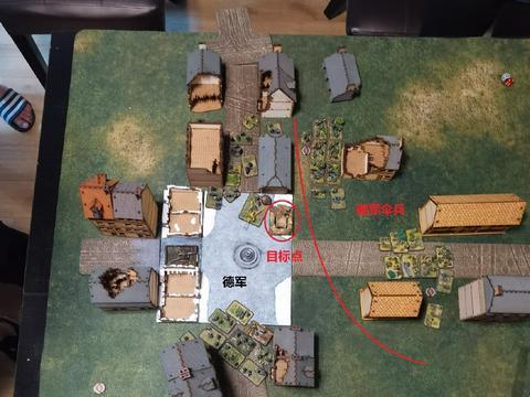 FOW战火战报:美国伞兵夜袭德军小镇,坦克排增援不力