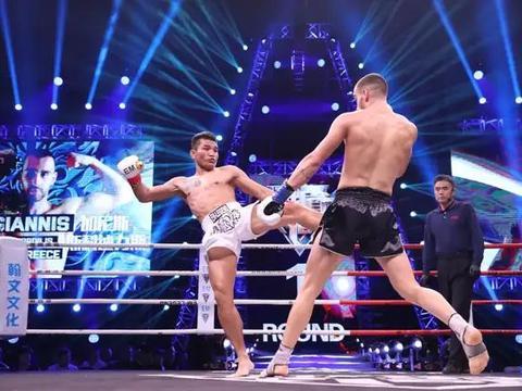 升重作战遭遇希腊巨人,百胜拳王欣玛尼一拳将对手打断片