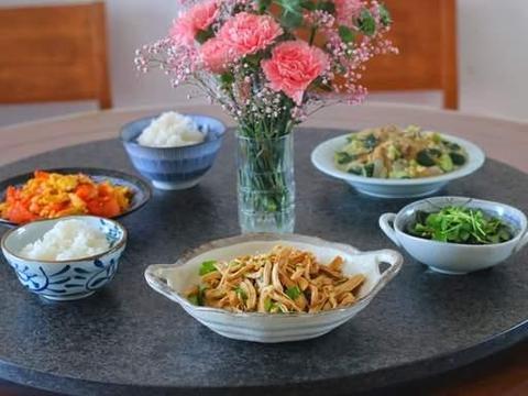 母女二人的午餐,低脂美味成本低,蛋白质满满,吃到饱也不怕胖
