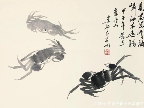 齐白石书画院院长-汤发周分享:娄师白谈齐白石是怎么画螃蟹的?