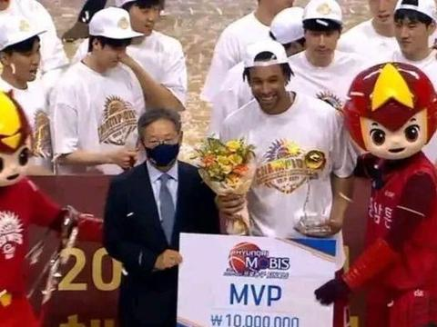 总冠军MVP的奖金才5.8万,韩国篮球联赛真的是牛