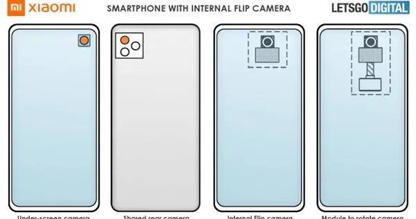 小米屏下旋转式摄像头专利
