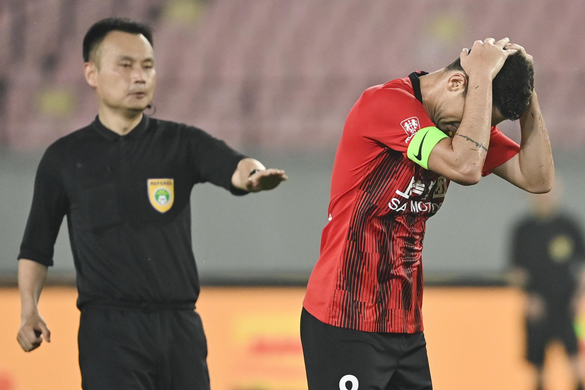 足球——中超:上海海港战平长春亚泰