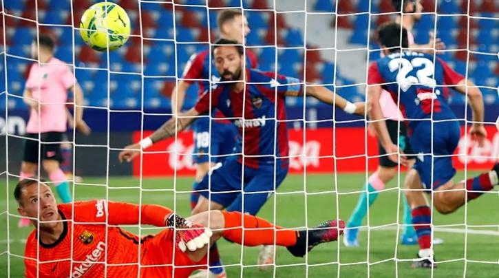 莱万特已3次下半场打入巴萨3球,此前仅拜仁实现这一成就