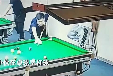 河北廊坊:小伙子暴脾气怒踹台球室墙一窟窿,竟为一球擦洞未进