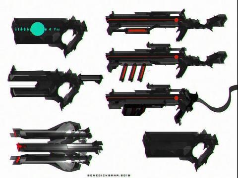 【绘画素材】酷炸!画师Benedick Bana的机械武器素材参考!