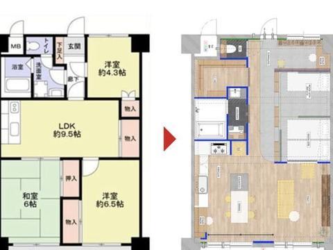 63m温馨日式小宅,巧用隔断通透显大又好看!