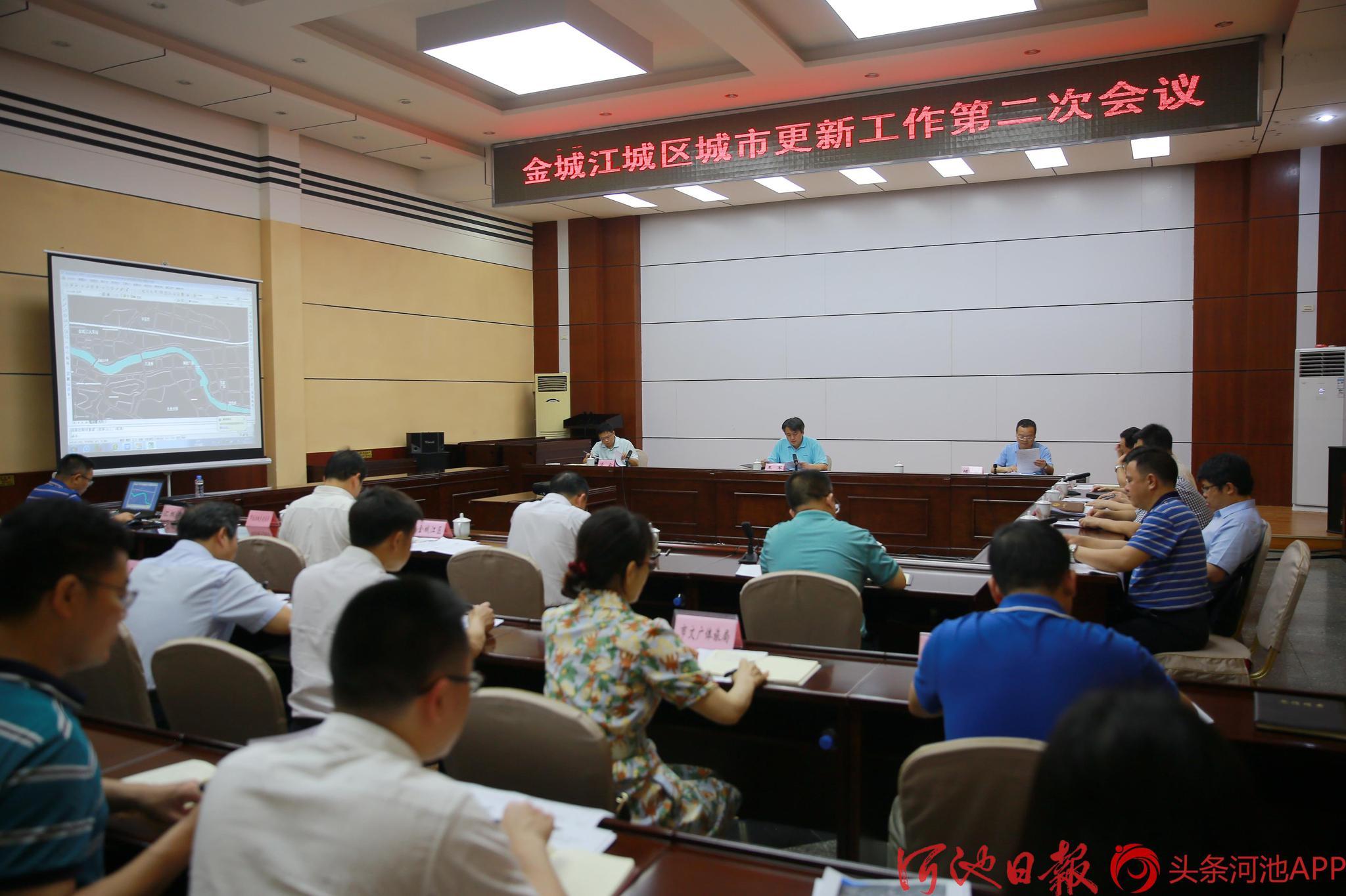 王军主持召开金城江城区城市更新工作第二次会议