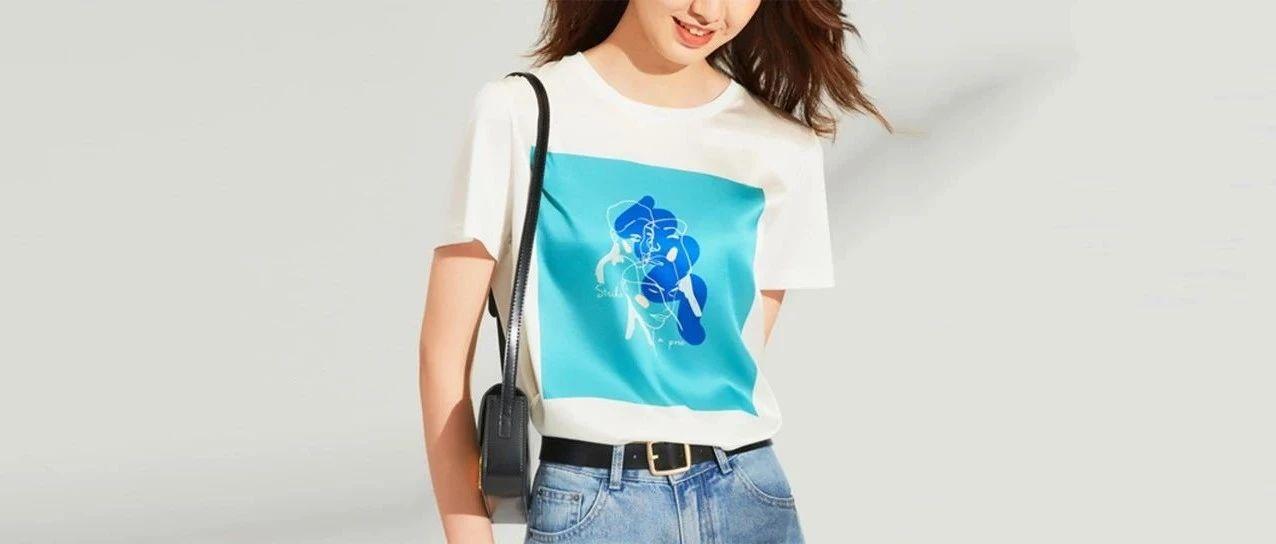 """有""""轻奢感""""的高品质T恤,凉凉滑滑,时髦高级"""