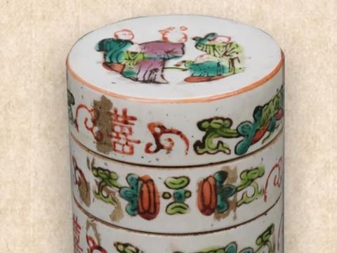 古代瓷器节盒-你知道是放什么样的器物