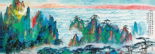 要不怎么说刘海粟的泼墨泼彩是一绝,这色彩,还不得多看几遍?