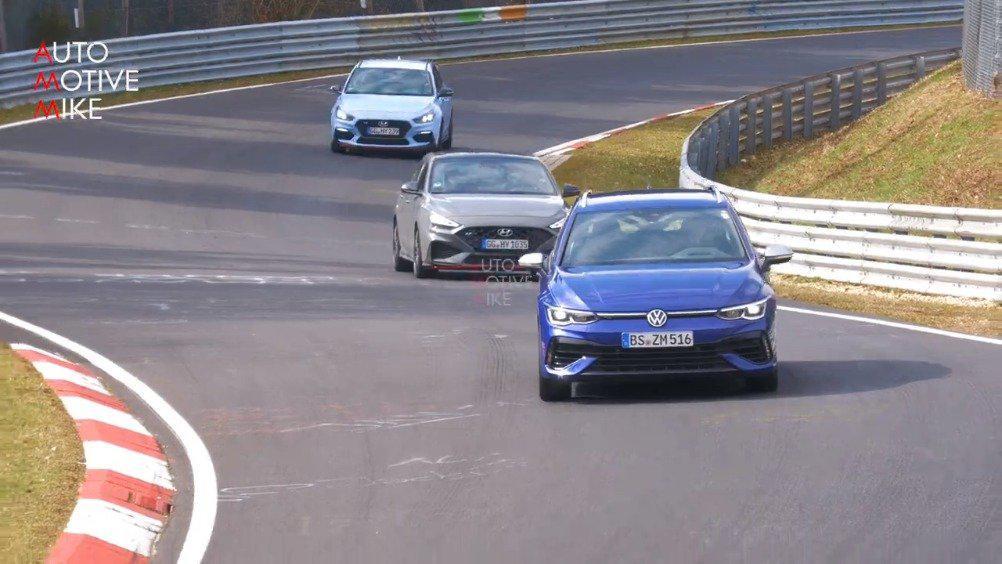 视频:新一代大众Golf R旅行版在纽北测试,新车将于年内发布……