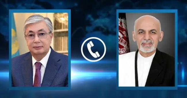 哈萨克斯坦总统托卡耶夫同阿富汗总统阿什拉夫·加尼举行电话会谈