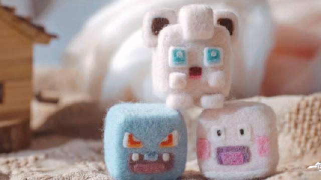 可可爱爱的宝可梦小精灵,我用羊毛毡做了出来!