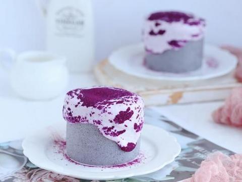 寓意着吉祥如意的紫气东来紫薯爆浆蛋糕卷,听这名字就觉得霸气