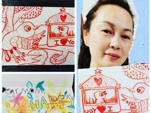 TVB女星姚莹莹晒儿子画作,未婚生下一子,独自把他送进国际学校