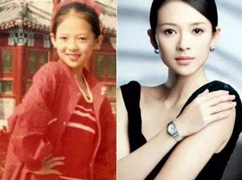 娱乐圈明星们的童年照,刘亦菲从小就很仙女,朱茵女大十八变!