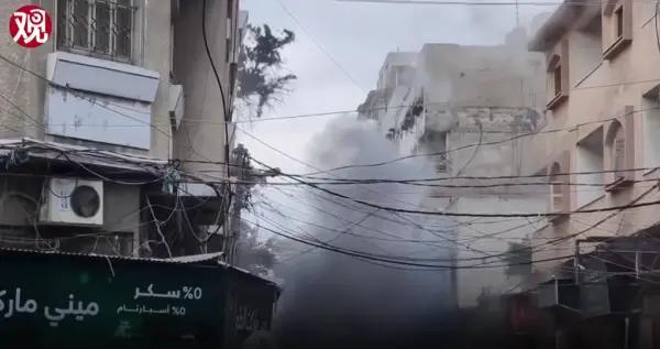 """以色列国防军再次使用""""敲屋顶""""战术,空袭前通知平民撤离"""
