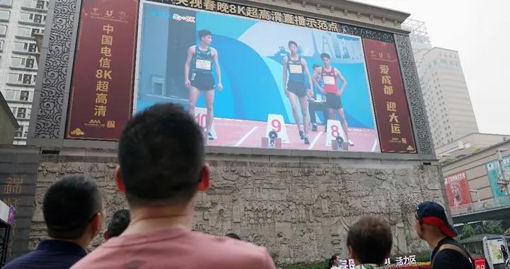 2021田径邀请赛采用5G+8K多视角赛事直播观众身临其境