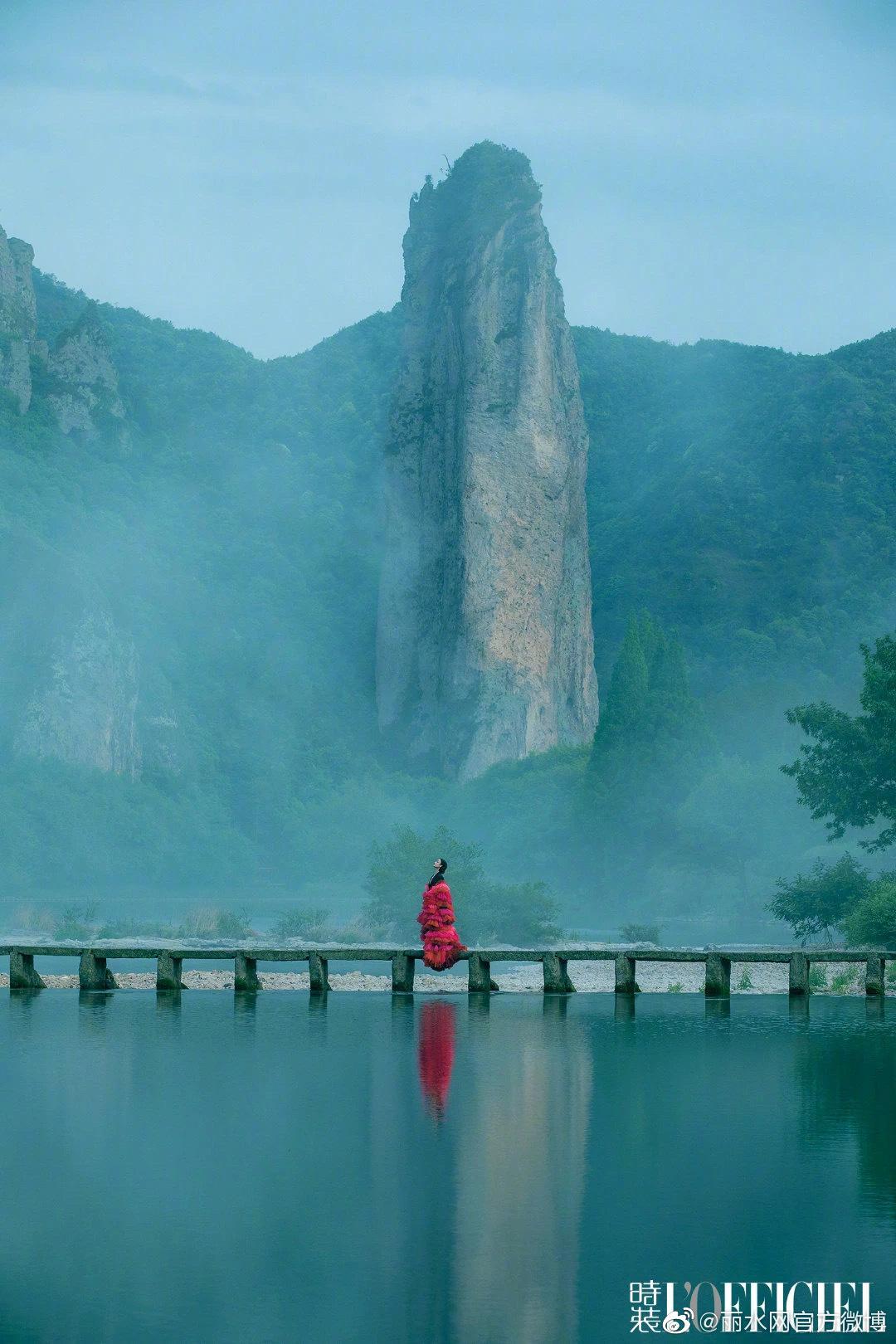 """倪妮说:""""我一直想去拍一组和大自然有关系的照片"""",然后她来了丽水缙云!"""