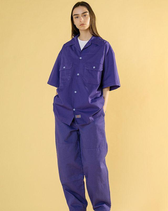Dickies x monkey time 联乘系列,推出色彩感十足的工装套装……