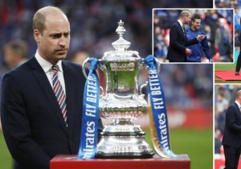 威廉现身足总杯决赛现场,查尔斯走访家族企业,没空搭理哈里