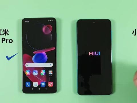 小米红米Note9 Pro,手机开机速度对比,小米红米10X