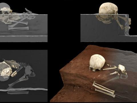 在非洲,已知最早的人类墓葬被发现,一个三岁的孩子被精心埋葬